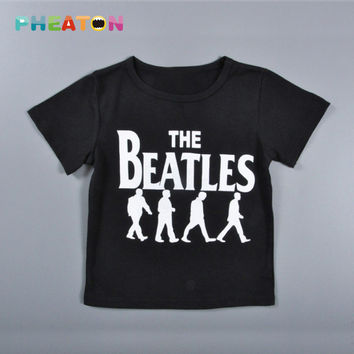 The Beatles Boy Clothes Short Sleeve T-shirt + Pants Outfit Toddler Boys Clothing Children Sport
