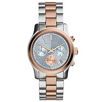 Michael Kors Two-Tone Runway Watch - Silver/Gold