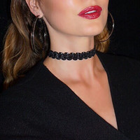 Shiny Gift Jewelry Lace Stylish Accessory Choker Necklace [9055442947]