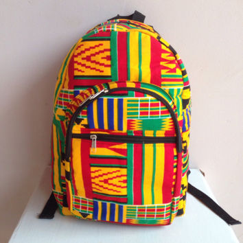 SALE: Mini Ankara Backpack/ Bookbag/ Rucksack