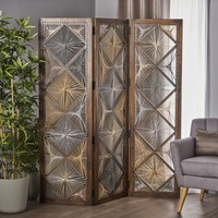 Chester Multi Brown Mango Wood Wall Divider