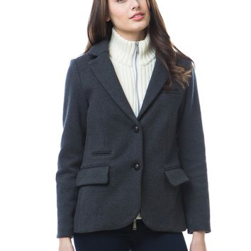 525 America Blazer w/ attached Rib Sweater - Black/ Light Grey