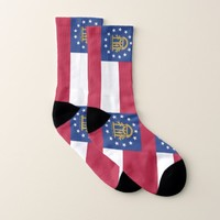 All Over Print Socks with Flag of Georgia
