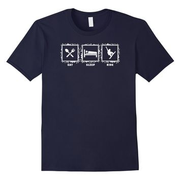 Snowboarding eat sleep ride snow sports t-shirt