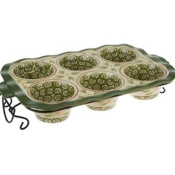 Temp-tations Old World Texas Muffin Pan w/Wire Rack — QVC.com