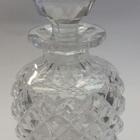 Cut Glass perfume bottle, Antique deep cut