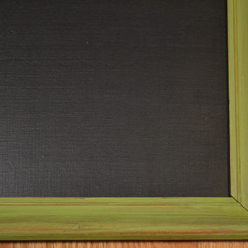 "Chalkboard Blackboard Upcycled Wood Frame Green 18"" x 14""  Littlestsister"