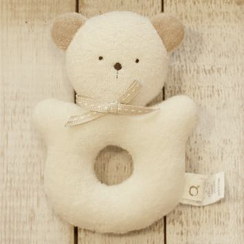 Bebe The Baby Bear Organic Cotton Rattle