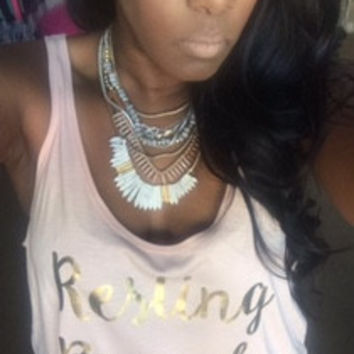 Resting Brunch Face - Slouchy Relaxed Fit Tank - Ruffles with Love - Fashion Tee - Graphic Tee