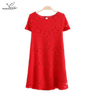 Ladies Summer Dress Casual White Lace Womens Summer Dresses Short 2016 Sundress Plus Size Clothes for Women Robe Blanche Femme