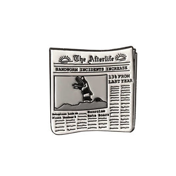 The Afterlife Newspaper Beetlejuice Enamel Pin