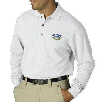 U S Air Force Retired Polo Shirt from Zazzle.com
