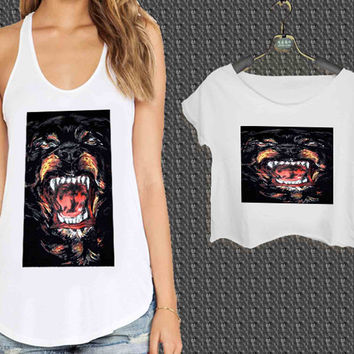 Givenchy Rottweiler For Woman Tank Top , Man Tank Top / Crop Shirt, Sexy Shirt,Cropped Shirt,Crop Tshirt Women,Crop Shirt Women S, M, L, XL, 2XL**