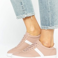 ASOS DELPHINE Stripe Lace Up Trainers at asos.com