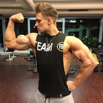 Summer Mens gyms Tank Top Bodybuilding cotton Sleeveless Brand Fitness Vest Muscle male fashion Leisure Sling undershirt