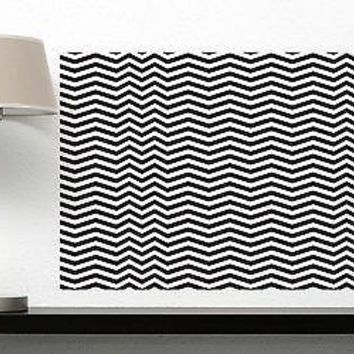 Wall Sticker Vinyl Decal Striped Rug Trick Eye Optical Illusion Decor Unique Gift (n046)