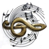 America Vintage Instrument Iron Wall Hanging Decoration   musical note