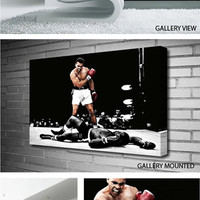MUHAMMAD ALI V SONNY LISTON KNOCK DOWN FIRST ROUND Canvas