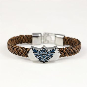 The Legend Of Zelda leather braided bracelet