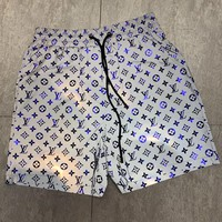 LV Louis Vuitton Trending Men Casual Personality Print Reflective Sport Running Shorts