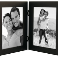 "Malden Linear Black Picture Frame holds two 5""x 7"" pictures Vertically"