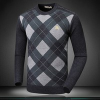 BURBERRY Fashion Men Warm Pullover Knitwear Matching Sweater  G-A00FS-GJ