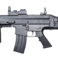 Entry Level SCAR Electric Airsoft Rifle w/ Red Dot Sight, Black