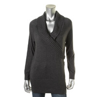 Style & Co. Womens Ribbed Trim Long Sleeves Pullover Sweater