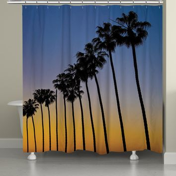 Sunset Palms Shower Curtain
