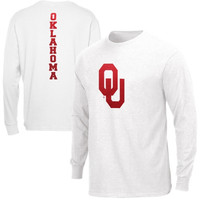 Majestic Oklahoma Sooners Distinctive Edge Long Sleeve T-Shirt - White