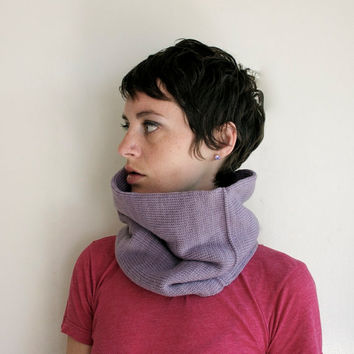 Circle Scarf Cowl Neck Warmer - Lilac