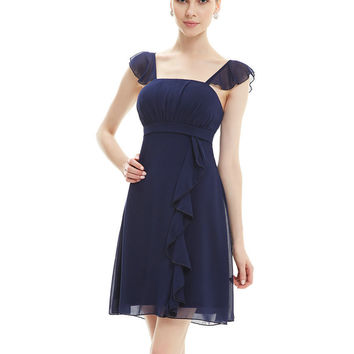 Free Shipping 03192  Crystal Beads Cake Layered Vintage Cocktail Dress