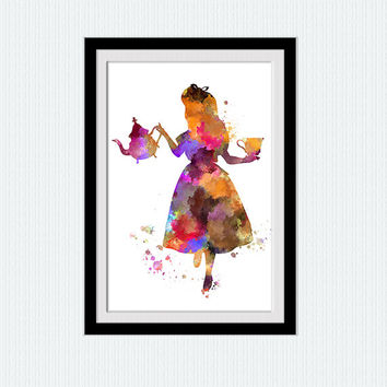 Alice in Wonderland print Alice in Wonderland poster Alice in Wonderland art decor Home decoration Kids room art Nursery room decor W540