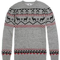 On The Byas Dustin Engineered Sweater - Mens Sweater - Gray