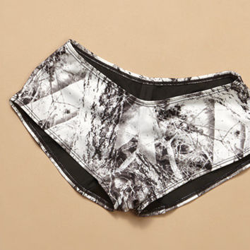Naked North Snow Camo Boy Short Bottom