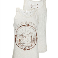 Southern Couture Lightheart Not All Who Wander Christian Triblend Front Print Bright T Shirt Tank Top