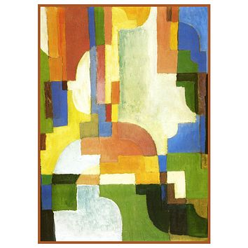 Still Life Vase of Red Tulips by Expressionist Artist August Macke Counted Cross Stitch Pattern