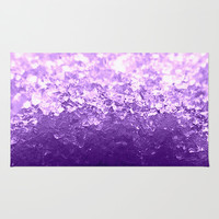 Lavender Purple Ombre Crystals Area & Throw Rug by 2sweet4words Designs