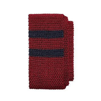 Placed Double Stripe Knit Tie - Brooks Brothers