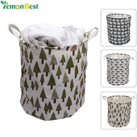 Printed Foldable Laundry Hamper with Handles
