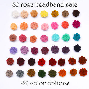 2 dollar rose headband sale, Felt Rose Skinny Headband, Flower Headband