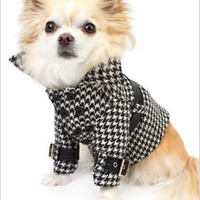 Lady Dog Coat with Belt - Theo