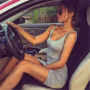 Summer Hot Sale Sleeveless Women's Fashion One Piece Dress [8773446861]