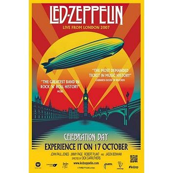 Led Zeppelin Live From London 2007 Poster Standup 4inx6in