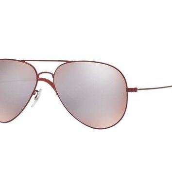 Gotopfashion New Ray Ban RB3558 9017/B5 58MM Red Aviator Sunglasses w/ Silver Mirrored lenses