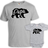 Matching Father And Baby Father And Son Matching Shirts Father And Daughter Matching Family Shirts Family Outfits Sport Grey MAT-665-667