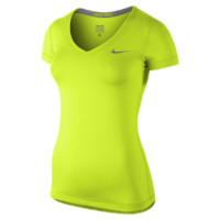 Nike Pro Core Fitted Short-Sleeve Women's Shirt - Volt