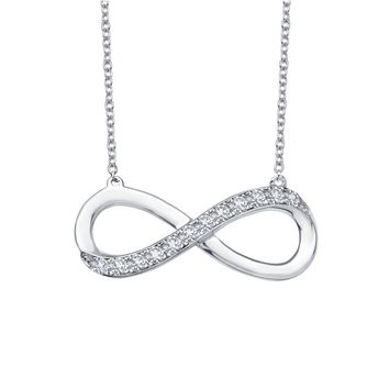 Lafonn Classic Sterling Silver Platinum Plated Lassire Simulated Diamond Necklace (0.26 CTTW)