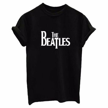 63c8ec63bbf0 THE BEATLES Letters Print Women tshirt Cotton Casual Funny t shirts For  Lady Top Tee Hipster