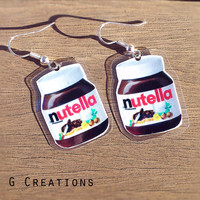 Nutella Inspired Earrings - Lightweight Laminated Earrings